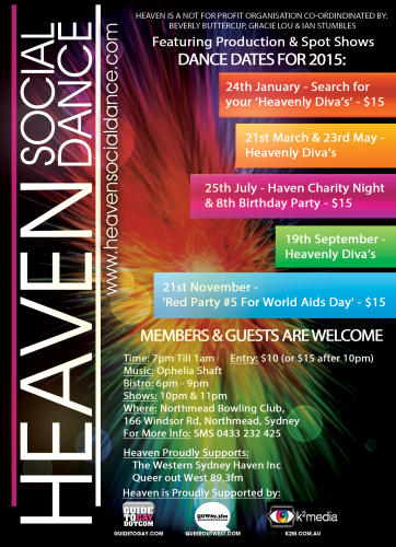 The latest Heaven Social Dances, serving Western Sydney and the Blue Mountains.